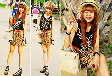 """Attiya_"" D - Cps Jewelry, Eyeglass Red, I Like It.. Bag Shopping, Skirt Leopard Pattern, Leather Shoes, Hat Classic - Leopard Funny day :>"