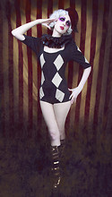 Anna Swiczeniuk - Fez, Etsy Ruff, Sample Remix Custom Made Bodysuit, Boots - Carny