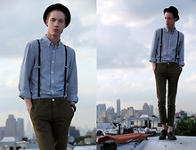 Brian P. - Topman Button Up, Topman Suspenders, Topman Chinos, H&M Bowler - Start Spreading the News