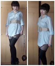 Dee ♡ - Another Shirt Stolen From My Sister, Ebay Waist Belt, Coconut Bag - Some tough times are ahead