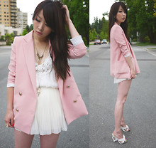 Ivy Xu - Blazer, Forever 21 Top, H&M Shorts, Shoes - It was your B'day.