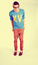 Ashley Knight - Topman Chinos, Jack Wills Xv Jumper, Topman Loafers, My Nan Clock Ball Necklace - Kin ard