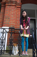 Chia Wen - H! By Henry Holland Jacket, Victim Fahsion Street Yellow Dress - Take a bow