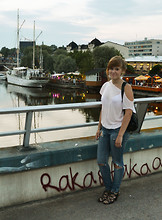 Gisela M - Monki Shirt, Only My Favorite Jeans, Andiamo Shoes, Pieces My Friend´S Bag - If I die young
