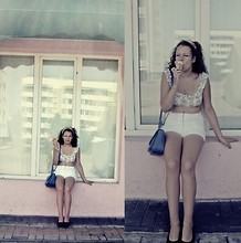 Monika Martinso - Second Hand White Shorts, Forever 21 Top - Sweet like sugar