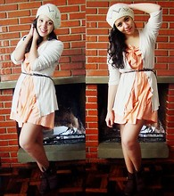 Melina Sanson - Accessorize Cap, Renner Dress, Renner Boots - Winter?