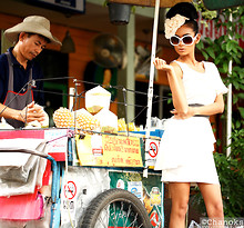 Chanok S - Siamsquare.Co.Th White Dress, No Name Sweet Blossom Headband., Flea Market Vintage Sunglasses. - Quickly please, I'm so thirsty!