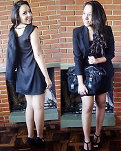 Melina Sanson - Fazzolin Blazer, C&A Dress - Blackout