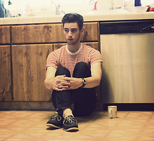 Edward Honaker - American Apparel Shirt, Doctrine Denim Jeans, Sperry Shoes, Urban Outfitters Watch - Belong