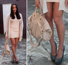 Kat P. - Topshop Skirt, Givenchy Nightingale, Victoria's Secret Cardigan - There's no place like neutral