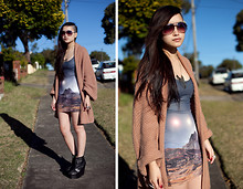 Jessica Tran - Black Milk Clothing Mountain Of Mars Dress, Random $10 Store Knit, Acne Studios Wedge Boots - Mountain of Mars