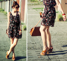 Maddy C - Dress, Deichmann Sandals, Bag - Butterflies.