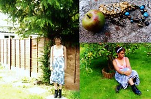 Rachel Williams - My Apple Tree, Primark Crop Top, Theatre Leopard Print Maxi Skirt, Dr. Martens Doc, Primark Owl Earrings, Primark Family Of Owls Ring, Accessorize Charm Bracelet - Under the apple tree.