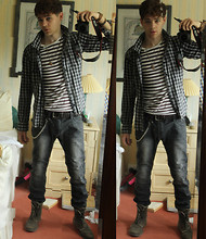 Andrew P - River Island Striped T Shirt, Uni Qlo My Favourite Shirt, Tk Max Leather Belt - Jar of Hearts ♪