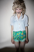 Kayla Hadlington - Charity Shop Shirt, Diy + Charity Shop Shorts - This is only a game
