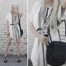 Marie Hamm - Kimberly Ovitz Silk Dress., Nordstrom Necklace., Vintage Belt, Jas Mb Bag, Miu Wedges - Abstract.