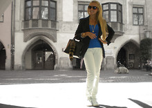 Noemie Von Mises - Furla Bag, Zara Jacket, Zara Shirt, Zara Pants, Adidas - 4th of July in Innsbruck