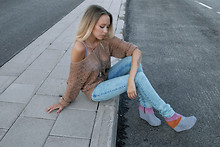 Martina M. - Jeffrey Campbell Wedges, Cheap Monday Jeans - Summer palette