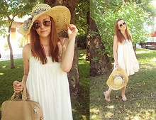 Sofie H - Zara Bag, Zara Dress, H&M Hat - SUNNY HAT