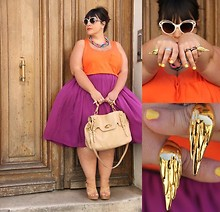Stephanie - BigBeauty Zwicky - Asos Skirt, Big Beauty For La Redoute Top, Miu Bag, Prada Sunglasses, Emily Rothschild Rings, H&M Necklace, Gerard Darel Shoes - + Come prima +