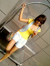 Joanne Pimentel - Korean Shop Vest, Vintage Bags, Shoes, Zara Yellow Top - Smile like ur wearing yellow and denim