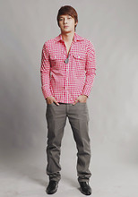 Seph Cham - Chemistry Checkered Button Down, Chemistry Grey Cotton Pants, Wade Shoes - Don't be square