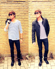 Jesper Søndergaard - Tiger Of Sweden Leather Jacket, Ray Ban Sunglasses Rayban, Tiger Of Sweden Jeans, Royal Republiq Boots - I wanna go
