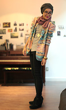 Yuna Zarai - Vintage Tribal Jacket, Steve Madden Wedges - Tribal Thing