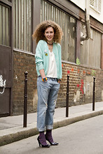 Charline G - Jc/Dc X Odm Pop Hours, Uniqlo Denim, Marc By Jacobs Heels - For Uniqlo.