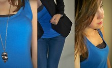 Shauni Z - Pieces Necklace, C&A Top, C&A Bandeau, H&M Blazer, H&M Skinny Jeans - I love the simple things in life.
