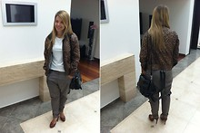 Ania Wojcikowska - Bershka Jacket, D&G Bag, Venezia Shoes, Imperial Trousers - Common day :)