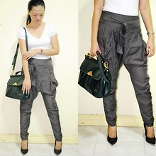Chantal Jane - Forever 21 Plain Tee, Topshop Harem Pants, Forever 21 Suede Pumps, Satchel - Northern Sale