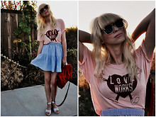Coury Combs - Vintage Skirt, Modcloth Tshirt, Modcloth Sandals - Love Works.
