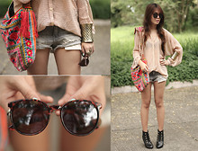 Cheyser Pedregosa - H&M Denim Shorts, Bangkok Boho Bag - Casual Radiance
