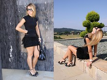 Ania Wojcikowska - Hego's Sandals, D&G Bag, Zara Skirt - Lady in black