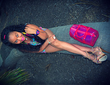 CRYSTAL Jewel . - Furla Neon Pink Candy Bag, G Shock Purple - CANDY Girl