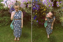 Lucinda Poulsen - Cow Dress, Primark Shoes, Charity Shop Bag, Primark Belt - Floral Dress