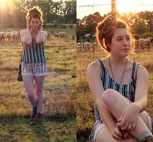 Laura Mullins - Diy Tank, Forever 21 Shorts, Dr. Martens Boots, Ring - How 'bout them cows