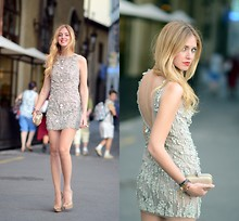 Chiara Ferragni - Amen Dress, Chiara Ferragni Shoes Http://Chiaraferragni.Com - Amen dress + McQueen clutch