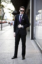 Taylor S - Raymond Weil Watch, Browns Shoes, Hugo Red Label Cotton Suit, Le Chateau Shirt, Holt Renfrew Tie, Dion Pocket Square, Tom Ford Sunglasses - Bloor Street After Work