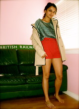 Maansi Jain - Michael Kors Coat, Rumor Crop Top, The Limited Red Shorts - Red is a favorite, read is a label