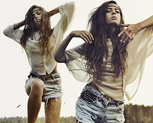 Thilda Mörlid Berglind - Vero Moda Blouse, Shorts - MY HAIR TASTE LIKE A SALTY SURFER'S