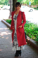 Kendra M - Betsey Johnson Coat, Vince Camuto Boots - The desire for fall to come!