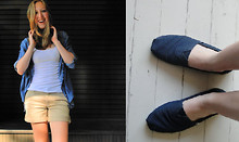 Alison V. - Toms, Banana Republic Shorts, Old Navy Button Down - Favorite shirt