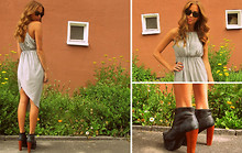 Kenza Zouiten - Dress, Jeffrey Campbell Shoes, Ray Ban Glasses, Guldfynd Accessories - Fear What You Don't Know
