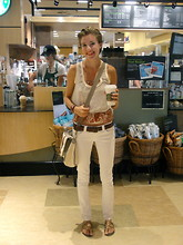 Ajenda J - Gold Sandals - Grocery Runs Are Better With Starbucks