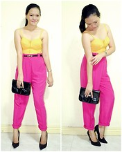 Chantal Jane - Corset, Trousers, Sm Dept. Store Clutch, Forever 21 Suede Pumps - Candy Yum Yum
