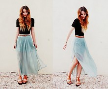 Olivia Purvis - American Apparel Dress, Primark Belt, H&M Skirt, Topshop Shoes - Satellite's gone way up to Mars