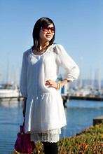 Meisha Style - Luxe Dressie, Marc By Jacobs Sunnies, Sonia Rykiel Bag - Summer in white