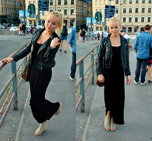 Elle Karlsson - H&M Maxidress, Tiamo Wedge Heels, H&M Bikerjacket, Second Hand Bag - I gave you all